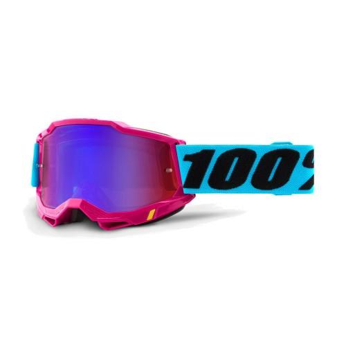 100% - ACCURI 2 - LEFLUER MIRROR RED BLUE LENS