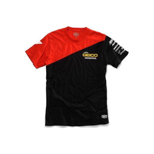 100% - SHIRT - BIAS T-SHIRT GEICO/HONDA - BLACK