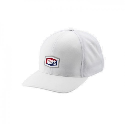 100% - HAT - CONTACT X-FIT HAT WHITE