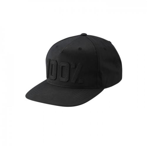 100% - HAT - FRONTIER SNAPBACK HAT BLACK