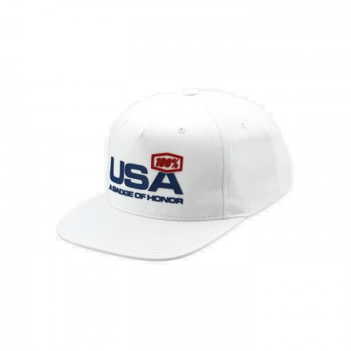 100% - HAT - NATION SNAPBACK HAT WHITE
