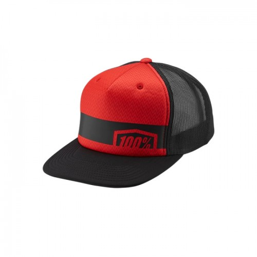 100% - HAT - QUEST TRUCKER HAT RED
