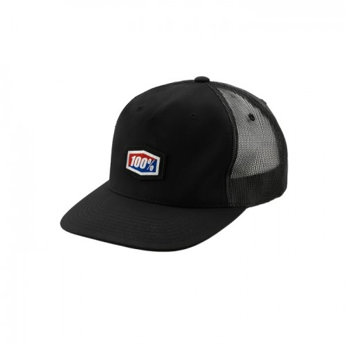 100% - HAT - VOYAGER TRUCKER HAT BLACK