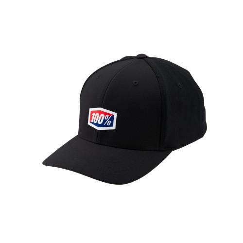 100% - HAT - CONTACT X-FIT SNAPBACK BLACK