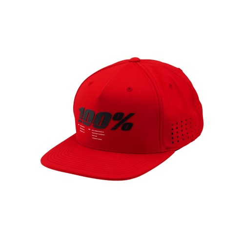 100% - HAT - DRIVE SNAPBACK RED