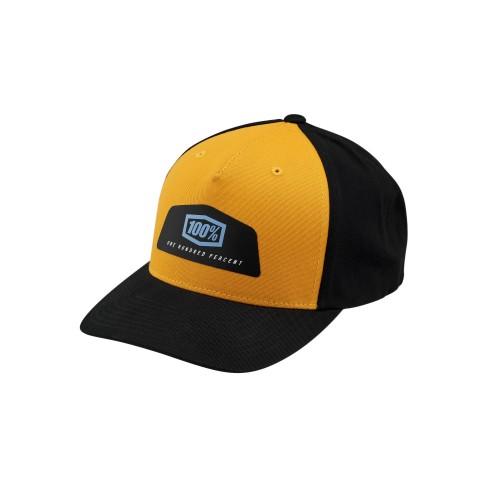 100% - HAT - GUILD X-FIT SNAPBACK BLACK