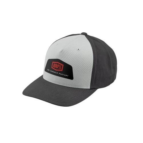 100% - HAT - GUILD X-FIT SNAPBACK GREY
