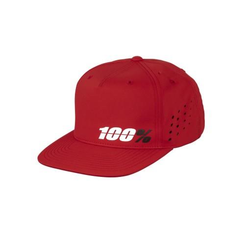 100% - HAT - OZONE SNAPBACK RED