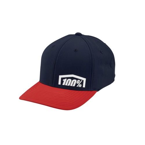 100% - HAT - REVOLT X-FIT FLEXFIT RED