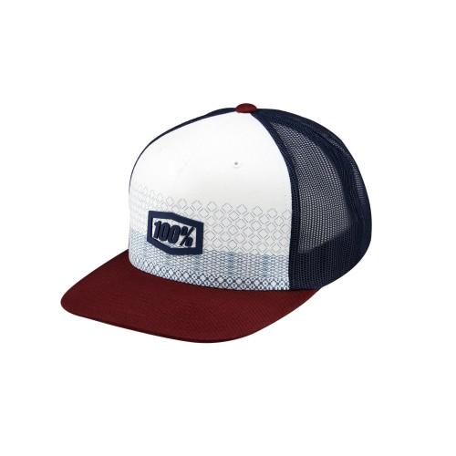 100% - HAT - ROLLINS SNAPBACK TRUCKER HAT BURGUNDY