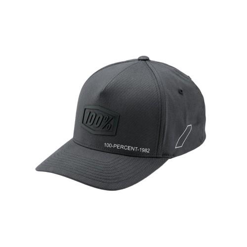 100% - HAT - SHADOW X-FIT SNAPBACK STEELE