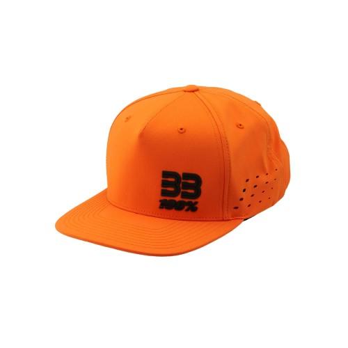 100% - HAT - BB33 SNAPBACK HAT ORANGE