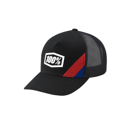 100% - HAT - CORNERSTONE X-FIT SNAPBACK HAT BLACK