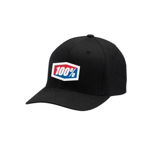 100% - HAT - OFFICIAL X-FIT FLEXFIT BLACK