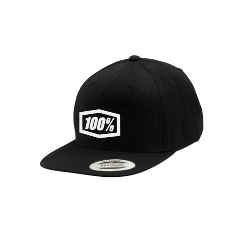 100% - HAT - ESSENTIAL SNAPBACK BLACK
