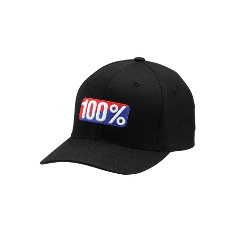 100% - HAT - OG FLEXFIT BLACK