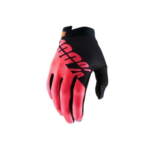100% - iTRACK GLOVE - BLACK FLUO RED