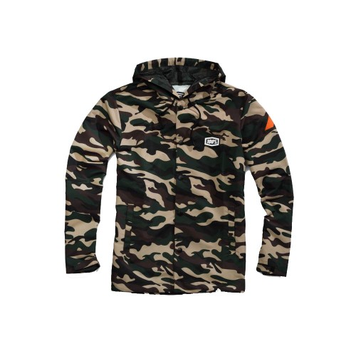 100% - FLEECE - APACHE SNAP JACKET HOODED - CAMO