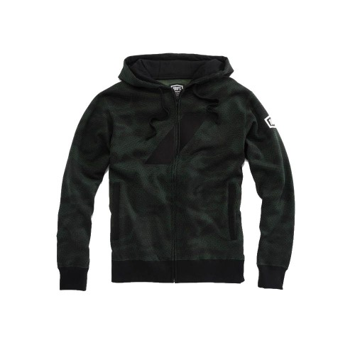 100% - FLEECE - BRIGADE ZIP HOODED SWEATSHIRT - CAMO