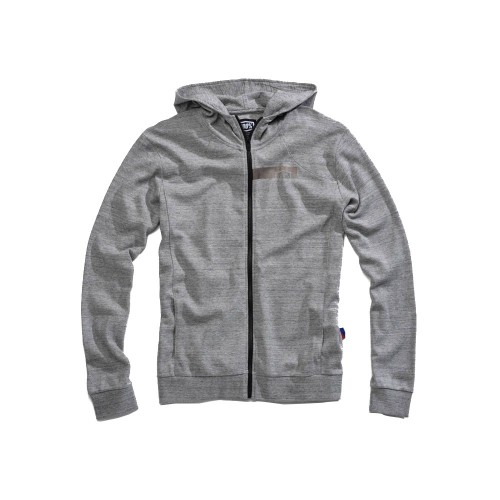 100% - FLEECE - CHAMBER ZIP HOODED SWEATSHIRT - GUNMETAL HEATHER