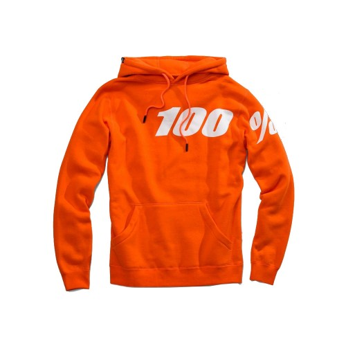 100% - FLEECE - DISRUPT HOODED SWEATSHIRT - ORANGE