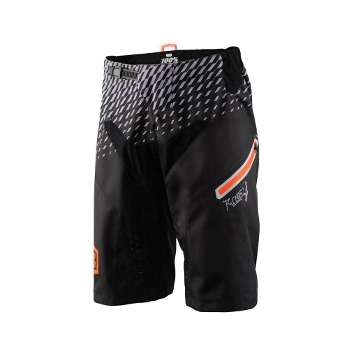 100% - PANTS - R-CORE DH SHORT SUPRA BLACK GREY