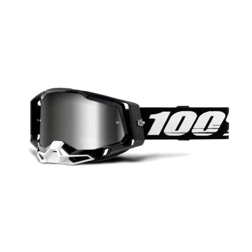 100% - RACECRAFT 2 - BLACK MIRROR SILVER LENS