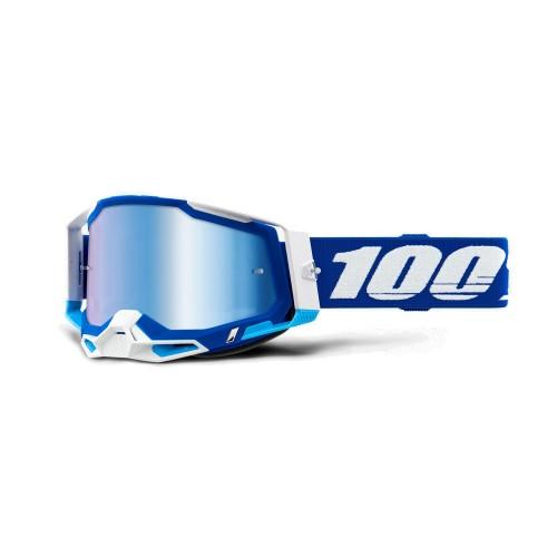 100% - RACECRAFT 2 - BLUE MIRROR BLUE LENS