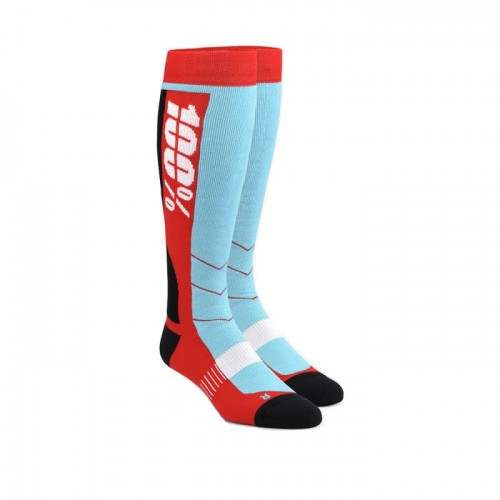 100% - SOCKS - HI SIDE PERFORMANCE MOTO SOCK - RED