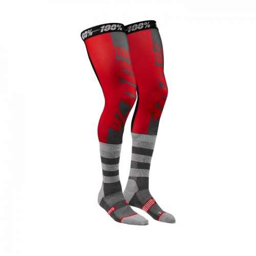 100% - SOCKS - REV PERFORMANCE MOTO SOCK - RED