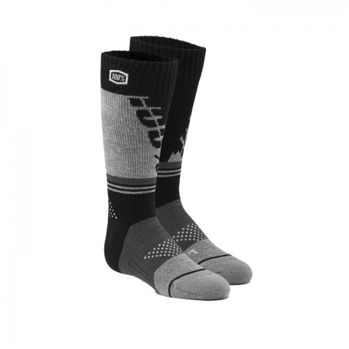 100% - SOCKS - TORQUE COMFORT MOTO SOCK - BLACK GREY YOUTH