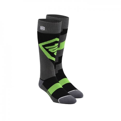 100% - SOCKS - TORQUE COMFORT MOTO SOCK - LIME