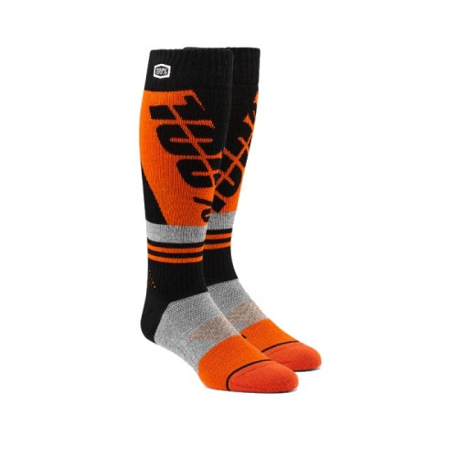 100% - SOCKS - TORQUE COMFORT MOTO SOCK - ORANGE BLACK