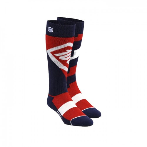 100% - SOCKS - TORQUE COMFORT MOTO SOCK - RED YOUTH