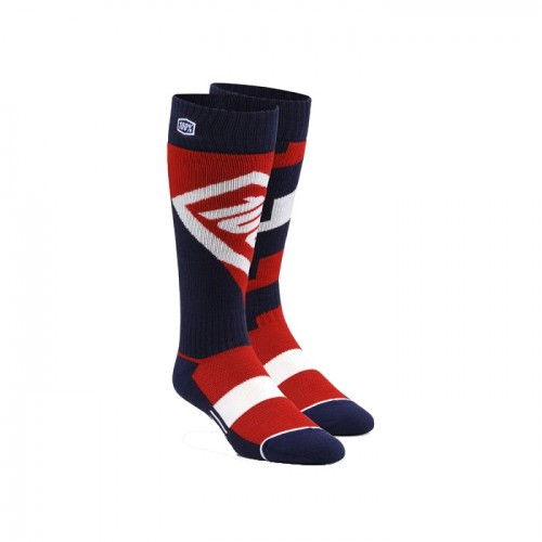 100% - SOCKS - TORQUE COMFORT MOTO SOCK - RED