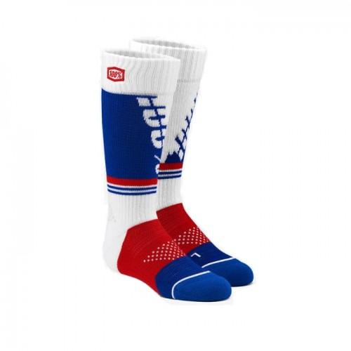 100% - SOCKS - TORQUE COMFORT MOTO SOCK - WHITE YOUTH
