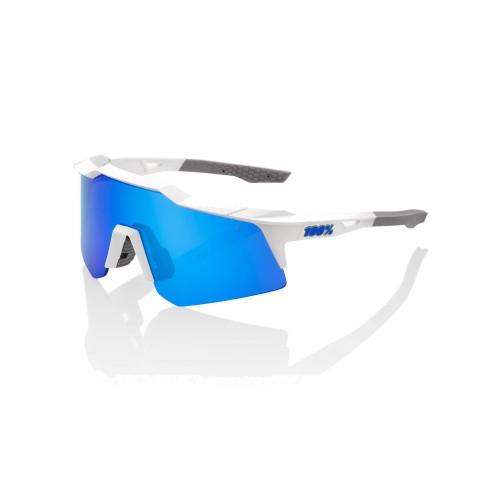 100% - SPEEDCRAFT XS - MATTE WHITE BLUE MULTILAYER MIRROR LENS