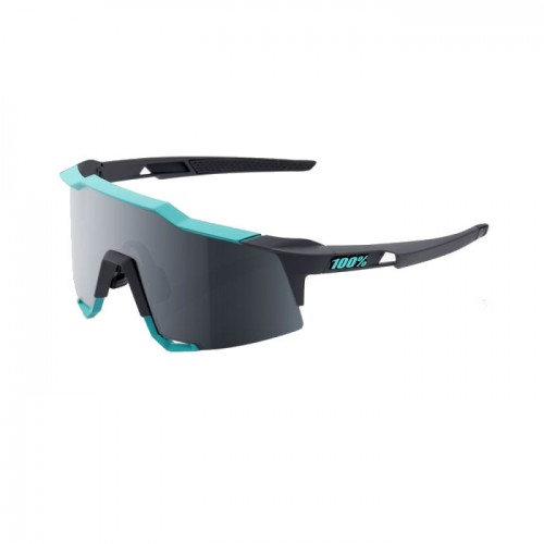 100% - SPEEDCRAFT LL - SOFT TACT CELESTE GREEN CEMENT GREY - BLACK MIRROR