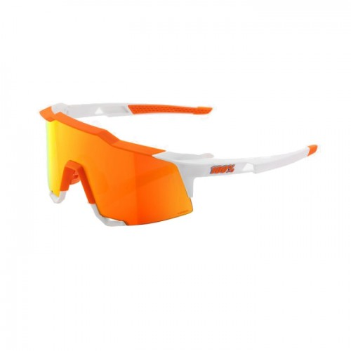 100% - SPEEDCRAFT LL - SOFT TACT DAY GLO ORANGE WHITE - HiPER RED MULTILAYER MIRROR