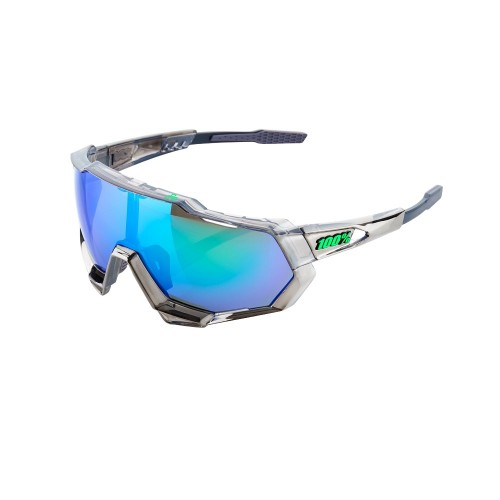 100% - SPEEDTRAP - PETER SAGAN CHROMIUM GUNMETAL-GREEN MULTILAYER MIRROR