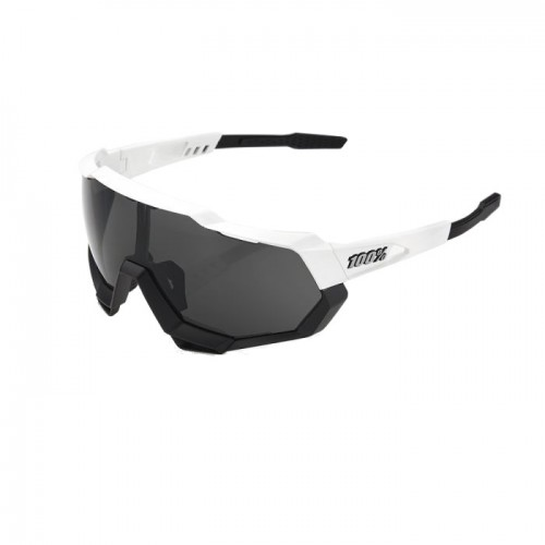 100% - SPEEDTRAP - MATTE WHITE/BLACK-SMOKE