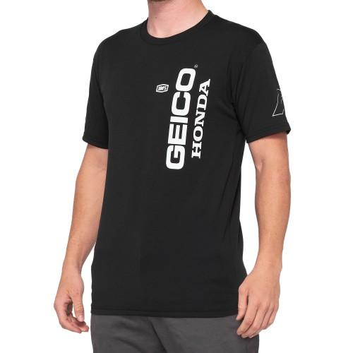 100% - SHIRT - HERETIC GEICO HONDA TECH TEE BLACK