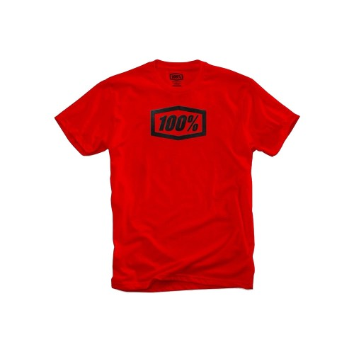 100% - SHIRT - ESSENTIAL TSHIRT RED