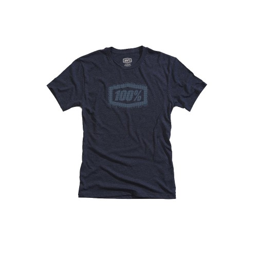 100% - SHIRT - POSITIVE NAVY HEATHER