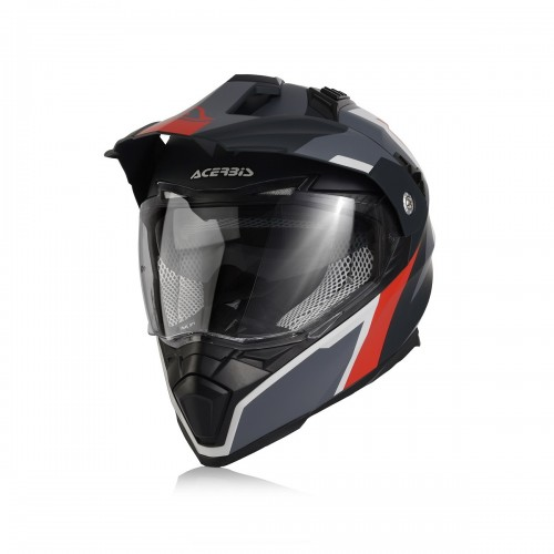 ACERBIS - HELMET FLIP FS606 - GREY RED
