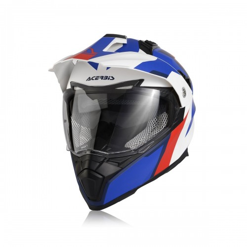 ACERBIS - HELMET FLIP FS606 - WHITE BLUE RED