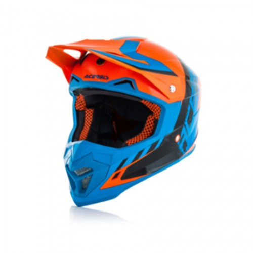 ACERBIS - PROFILE 4.0 HELMET - ORANGE BLUE