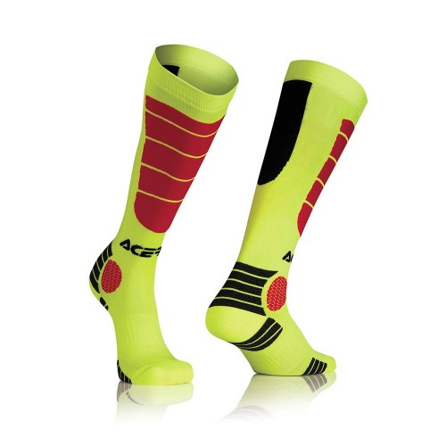 ACERBIS - MX IMPACT SOCK - YELLOW RED