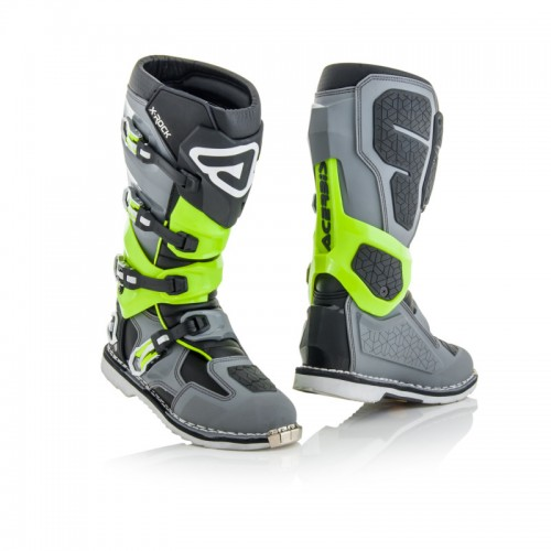 ACERBIS - X-ROCK - GREY GREEN FLUO