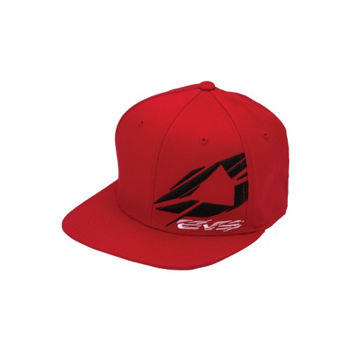 EVS - HAT - SHATTERED HAT FLEXFIT RED